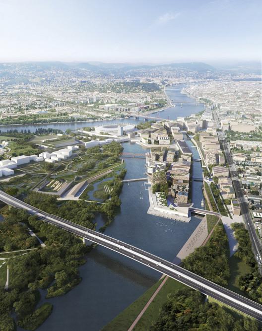 Budapest South Gate Masterplan. Image Courtesy of Filippo Bolognese, Snøhetta