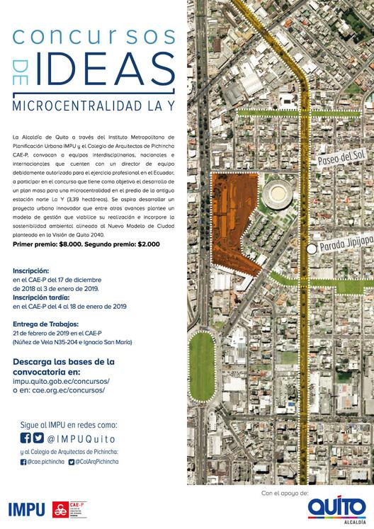 Quito abre concursos de ideas para diseñar plan maestro de la antigua estación del trole La Y, Instituto Metropolitano de Planificación Urbana de Quito