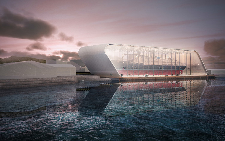 World's Largest Artifact to be Housed in New Norwegian Museum, Hurtigruten Museum. Image Courtesy of Peab AB