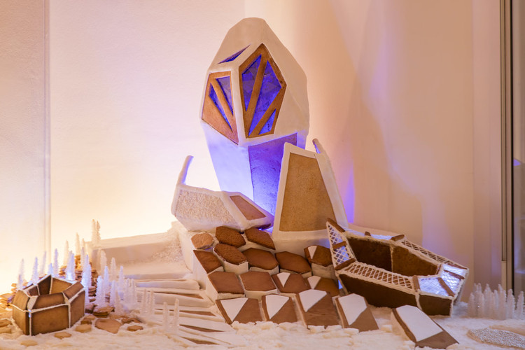Sugar, Splice, and All Things Iced: Fosters and ZHA Create a Gingerbread Paradise, © Luke Hayes via the Museum of Architecture