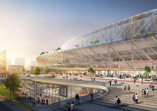 Hongkou Stadium. Image Courtesy of Sasaki
