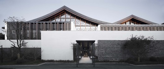 West Elevation of Multi-Purpose Hall. Image © Qiang Zhao