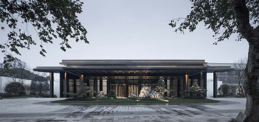 South Elevation of Multi-Purpose Hall. Image © Qiang Zhao