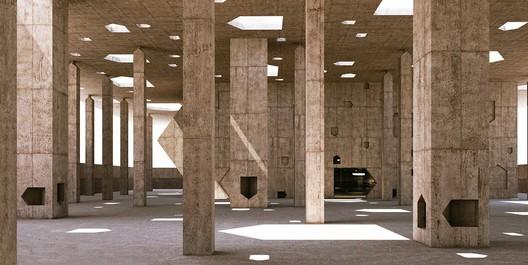 Courtesy of Valerio Olgiati. ImagePearling Path Visitor Centre / Valerio Olgiati