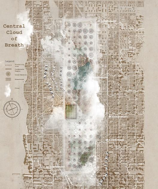Central Cloud of Breath / Chuanfei Yu, Jiaqi Wang + Huiwen Shi(South East University – Nanjing, China). Image © LA+ Iconoclast