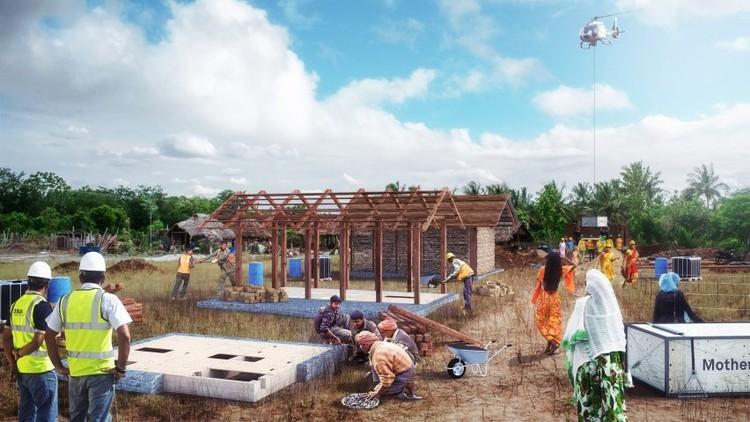 Carlo Ratti desarrolla prototipo residencial prefabricado en zonas rurales de India, Livingboard. Imagen cortesía de Carlo Ratti Associati