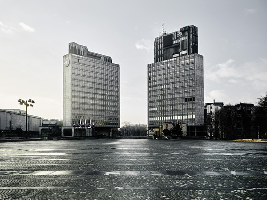 Edvard Ravnikar, Revolution Square (today Republic Square), 1960-74, Ljubljana, Slovenia. View of the Square. Photo: Valentin Jeck, commissioned by The Museum of Modern Art, New York, 2016.