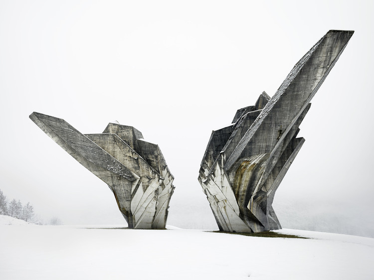 "An Expert Guide through MoMA's ""Toward a Concrete Utopia: Architecture in Yugoslavia, 1948–1980"", Miodrag Živković, Monument to the Battle of Sutjeska, 1965-71, Tjentište, Bosnia and Herzegovina. View of the western exposure. Photo: Valentin Jeck, commissioned by The Museum of Modern Art, New York, 2017."