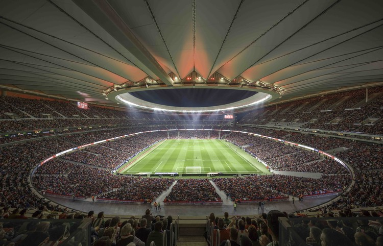 Cruz y Ortiz Architects' Wanda Metropolitano declared the World's Best Stadium , © Cruz y Ortiz Architects
