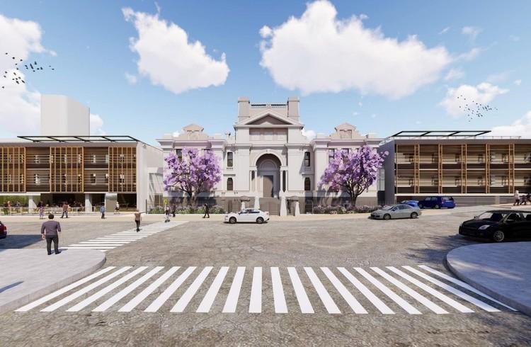 Azusa Sekkei transforma antigo tribunal na Austrália em campus educacional , Nihon University Newcastle Campus. Cortesia de Azusa Sekkei