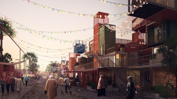Egyptian Architects Design Shipping Container Housing for Cairo, Sheltainer. Image Courtesy of Mouaz Abouzaid