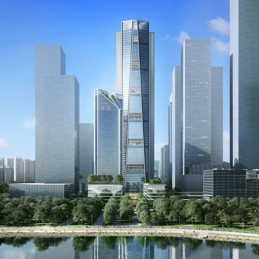 China Merchants Bank HQ en Shenzhen. Imagen cortesía de Foster + Partners