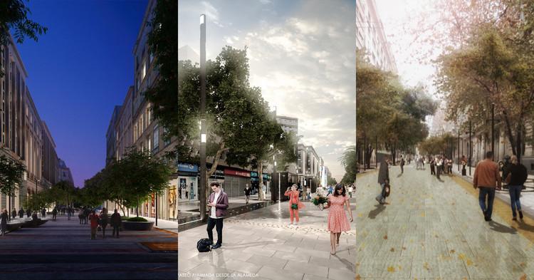 Vencedores do concurso para remodelação dos passeios pedonais de Santiago em 2020, Cortesía de Municipalidad de Santiago