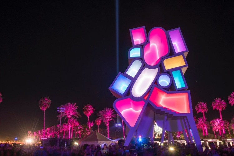 Francis Kéré and Office Kovacs to Design 2019 Coachella Installations, Tower of Twelve Stories. Image Courtesy of Bureau Spectacular