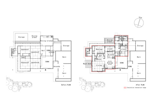 Floor Plan - Before and After