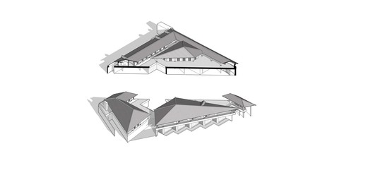 Section axonometric projection