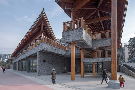 The entrance under the roof. Image © Arch-Exist