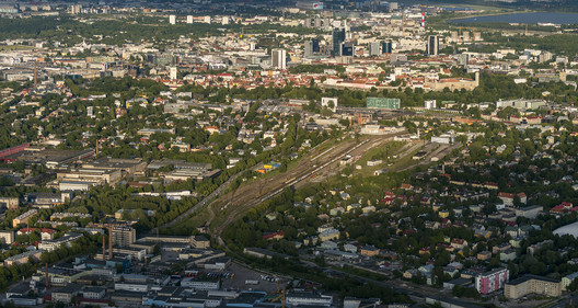 Aerial view of Kopli, the chosen site for TAB's 2019 Vision Competition. Image © Tõnu Tunnel