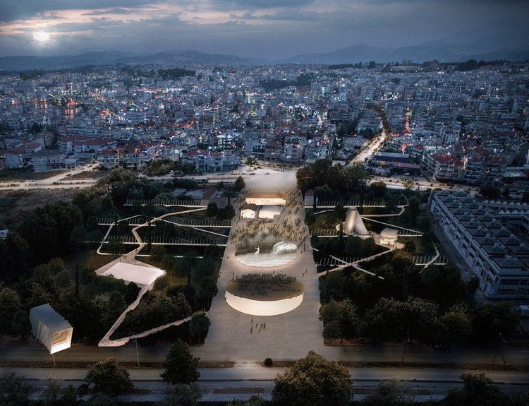 Anagram Designs an Urban Cultural Park for Greece, Urban Theater. Image Courtesy of Anagram Architecture & Urbanism