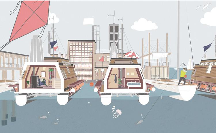 Floathub Project Takes Aim at Sweden's Housing Crisis, Floathub. Image Courtesy of Daniela Lamartine