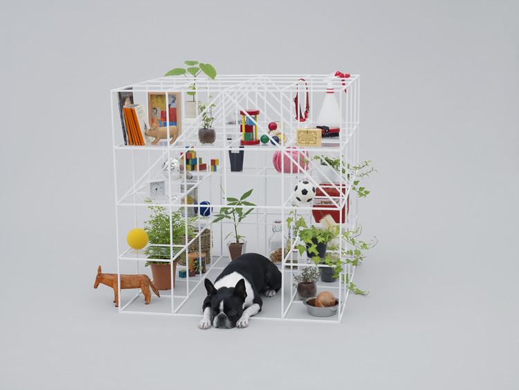 Kazuyo Sejima, Toyo Ito e Sou Fujimoto criam arquiteturas caninas para exposição na Japan House SP, Projeto No Dog, No Life! por Sou Fujimoto. Image © Hiroshi Yoda