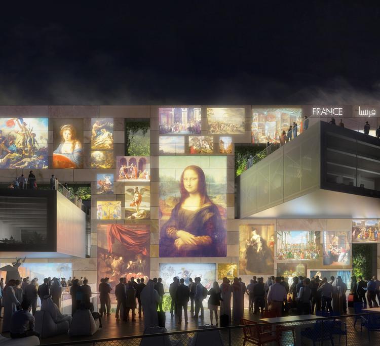 Clément Blanchet e AREP projetam pavilhão francês para a Expo 2020 Dubai, Renderizações por Plompmozes. Imagem Cortesia de Clément Blanchet Architecture e Etienne Tricaud (AREP)
