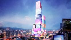 """MVRDV Designs a Dual Tower Scheme with Interactive Facades for """"Times Square"""" of Taipei"""