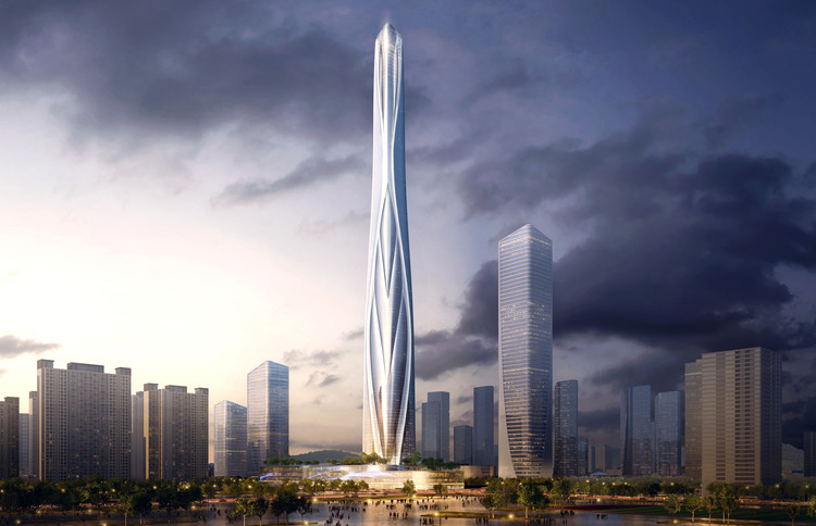 Adrian Smith + Gordon Gill to Design China's Tallest Skyscraper, Shenzhen-Hong Kong International Center. Image Courtesy of Adrian Smith + Gordon Gill Architecture
