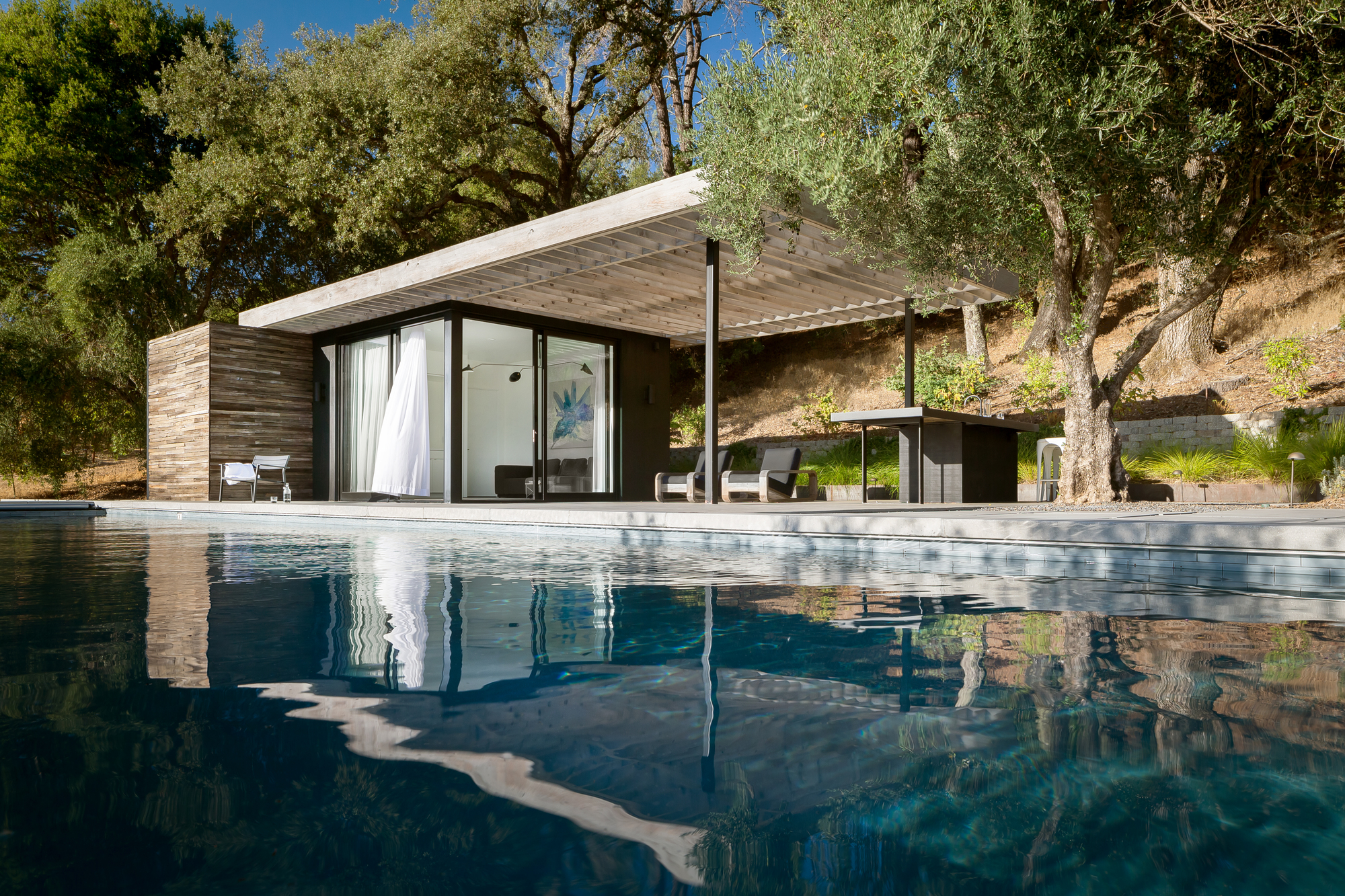 Dry Creek Poolhouse Ro I Rockett Design Archdaily