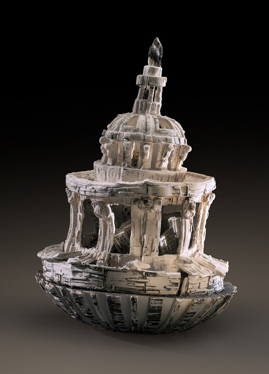 Artist Explores Architectural Life Cycles Through Ceramics, Weight of the World