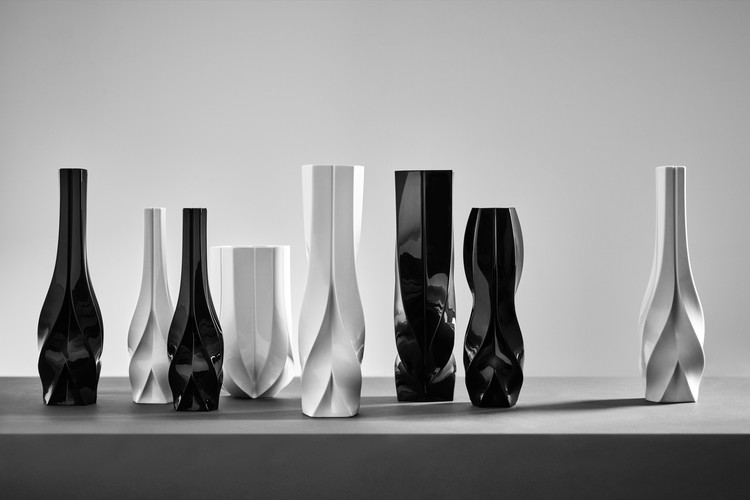 Zaha Hadid Design Collection to be Exhibited at Maison et Objet Paris, Braid vases candleholders. Image © Zaha Hadid Design