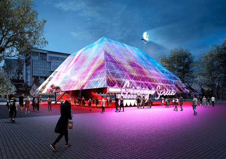 Holographic Pyramid Coming to the Garage Museum in Moscow, Summer Cinema Pavilion. Image Courtesy of Syndicate Architects