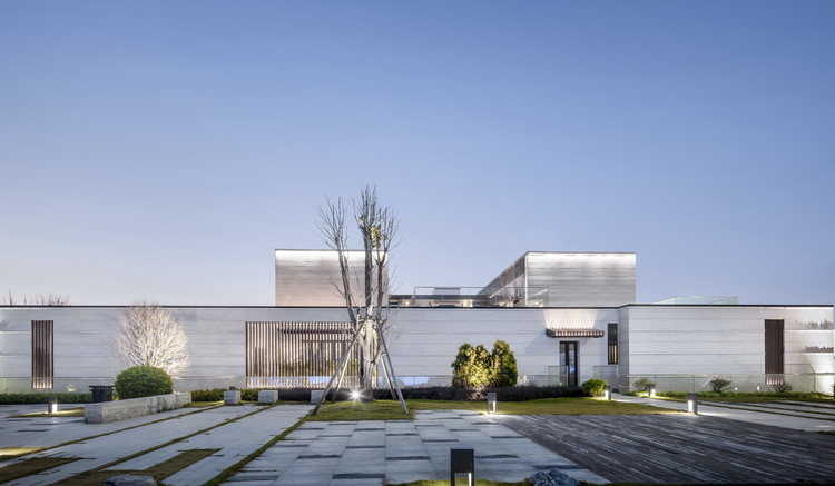 Haiyue Community Cultural Center / L&M DESIGN LAB, Elevation of Culture Center. Image © Yijie Hu