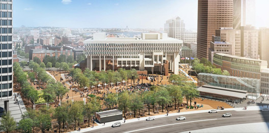 Boston City Hall. Image Courtesy of Utile and Reed Hilderbrand