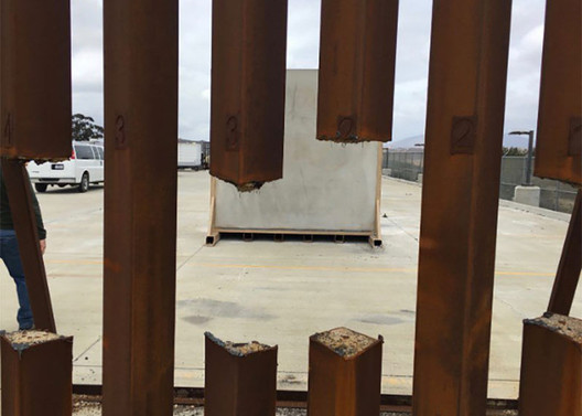 Border Wall Prototype. Image via NBCNews