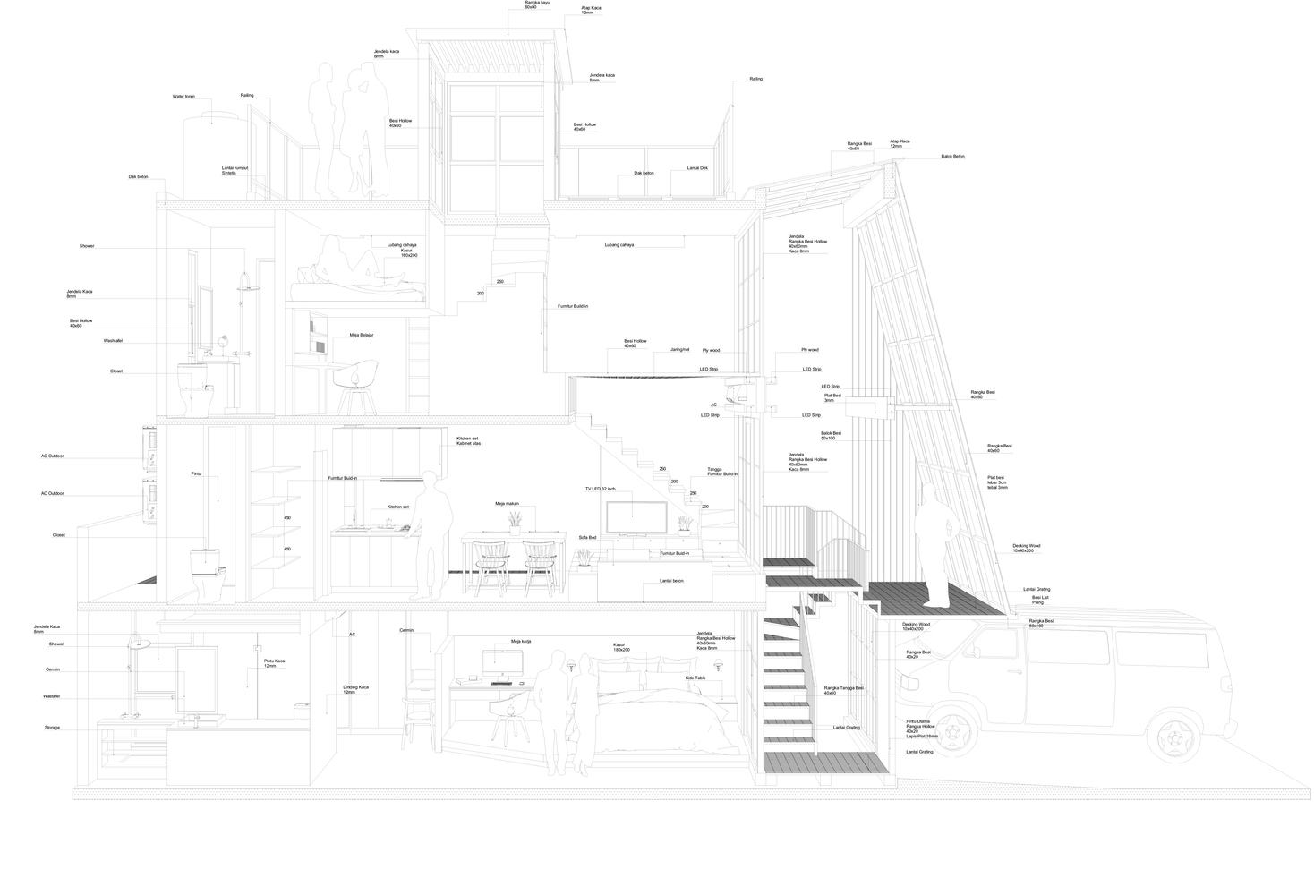 Gallery Of 3500 Millimetre House Ago Architects 27