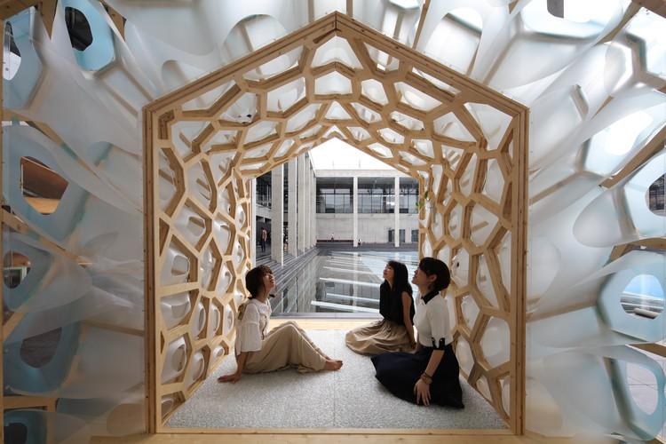 Porous Manifold as a Japanese Tearoom / F.A.D.S. + Ryumei Fujiki + KOU::ARC, © Masahiro Hoshida