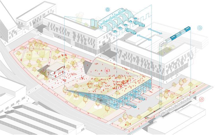 URLO Studio, ganador del concurso de ideas del plan maestro para el eje férreo sur de Quito, URLO Estudio. Image Cortesía de Alcaldía de Quito