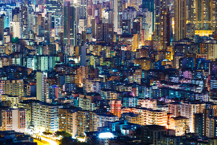 How Urban Planning Can Help Us Cope With Climate Change, Hong Kong is one of the most densely populated cities on earth. Image via Shutterstock