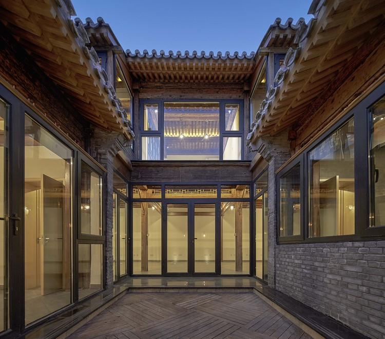 Before And After Merging Two Rooms Has Created A Super: Hutong Courtyard Renovation At Qianmen Street / Super