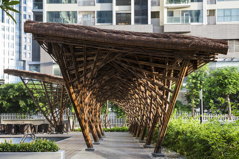 Corridor Roof Design: Gallery Of Vinata Bamboo Pavilion / VTN Architects
