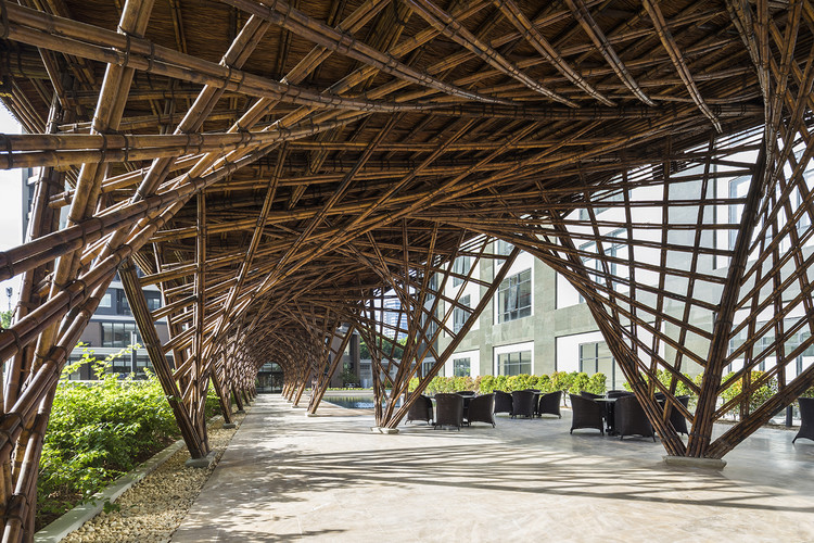 Pabellón de bambú Vinata / VTN Architects, © Hiroyuki Oki