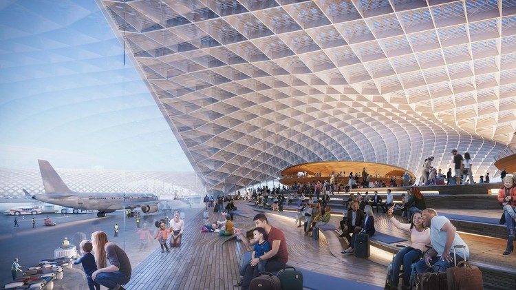 O'Hare International Airport expansion. Image Courtesy of Foster Epstein Moreno