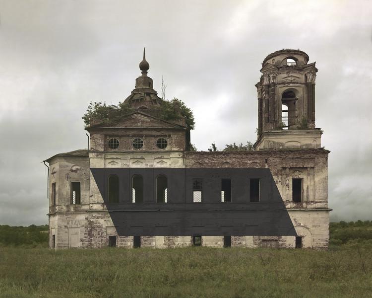 Monumentos russos abandonados são reapropriados com estruturas efêmeras pelo artista Danila Tkachenko, © Danila Tkachenko