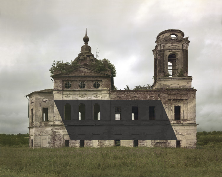 Abandoned Russian Orthodox Monuments Appropriated with Abstract Modernist Shapes by Danila Tkachenko, © Danila Tkachenko