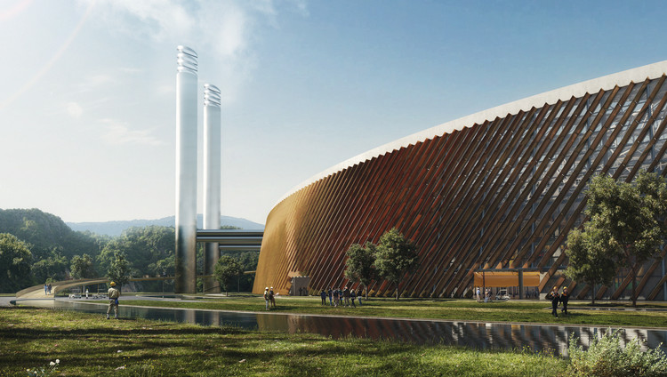 World's Largest Waste-to-Energy Plant Set to Open Next Year in Shenzhen, Shenzhen East Waste-to-Energy Plant. Image Courtesy of Schmidt Hammer Lassen and Gottlieb Paludan