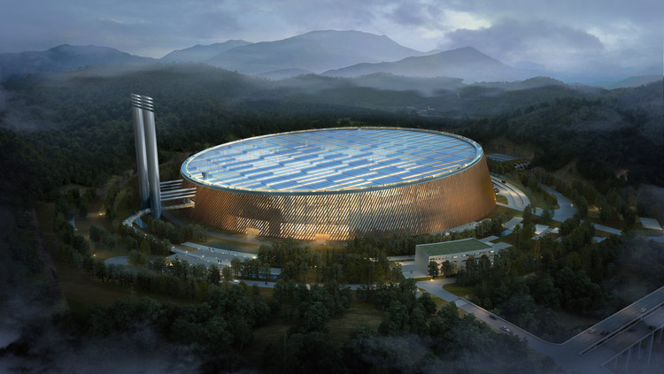 Shenzhen East Waste-to-Energy Plant. Image Courtesy of Schmidt Hammer Lassen and Gottlieb Paludan