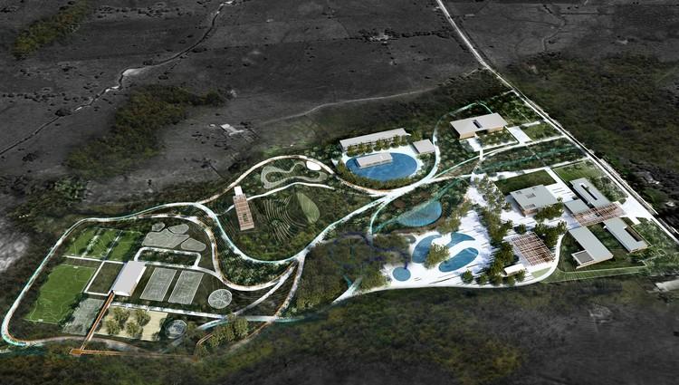 Urbanittá y Lumaa diseñarán parque recreodeportivo Comfamiliar en Huila, Colombia, Vista aérea. Image Cortesía de Urbanittá + Lumaa