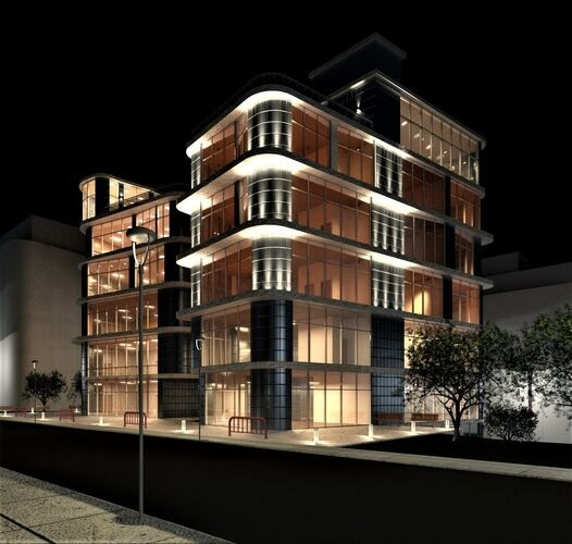 Façade Lighting Design in Revit: Bringing Buildings to Life, Courtesy of Winled