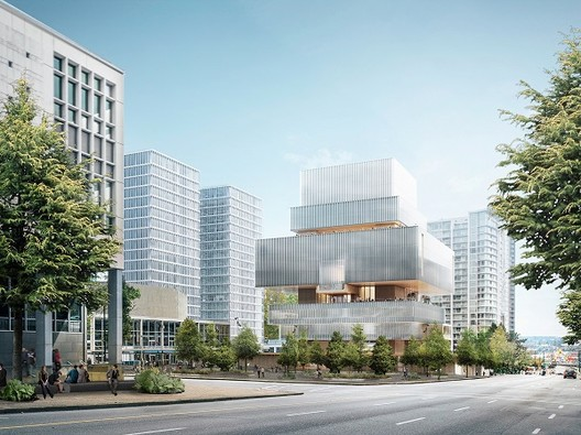 Herzog & de Meuron Release Final Design for Vancouver Art Gallery, View across Queen Elizabeth Square. Image © Herzog & de Meuron